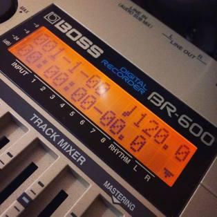 Boss BR-600 para gravações rápidas